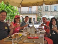 Guests from one of our rental villas having lunch in Pezenas
