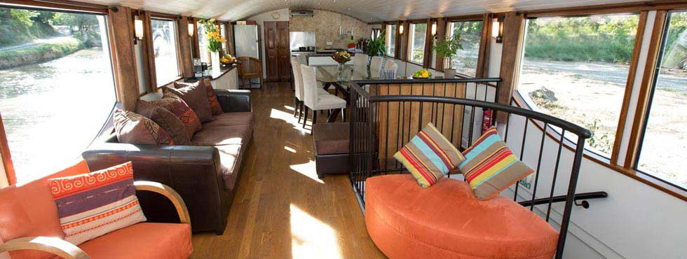 Upper deck of this lovely barge