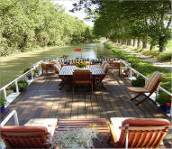 Superb luxury barge cruise of the Canal du Midi, South of France, private owners