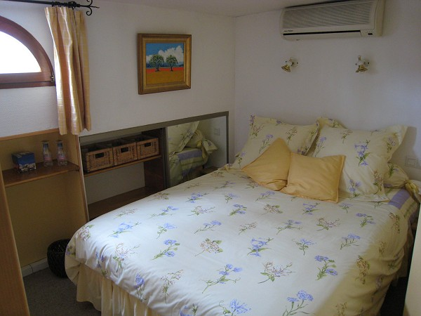 One of the barge's double bedroomed cabins