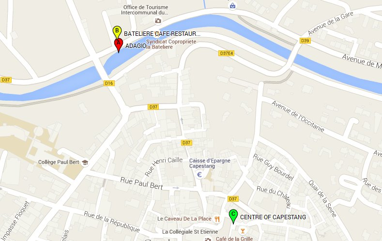 CAPESTANG TOURIST MAP OF CANAL DU MIDI BOAT DAY TRIPS CRUISES