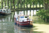 Canal barge holiday France