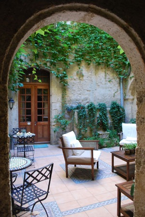 beautiful historic courtyard